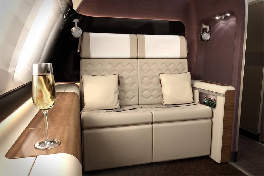 Singapore Airlines' First Class seat