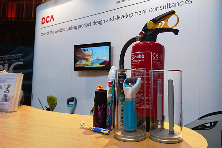 Some of the products designed by DCA on our recruitment fair stand
