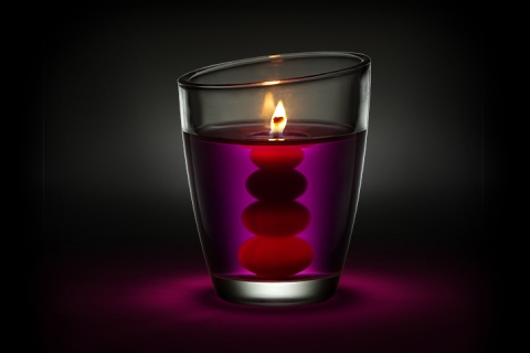 Airwick Essential Pearls Candle In The Dark