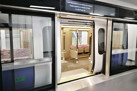 Crossrail train mockup created by DCA Design