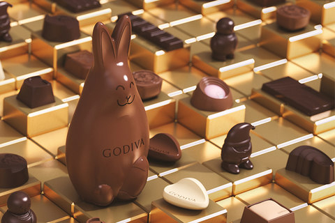 Godiva luxury chocolate designed by DCA Design