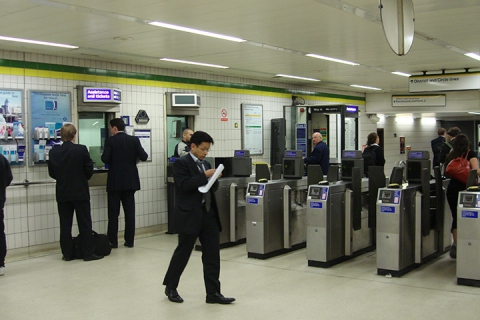 London Underground ticket barriers and machines