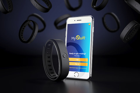 DCA helped GSK create the MyQuit band and the supporting app to help fight nicotine addiction