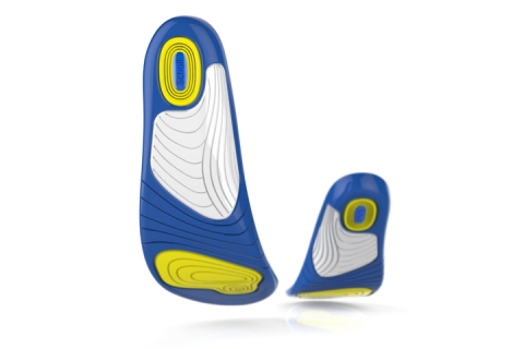 Three GelActiv insoles running