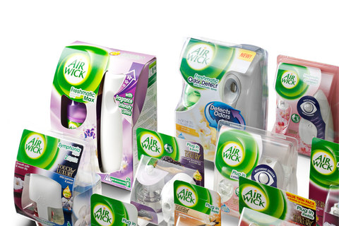 RB Airwick Secondary Packaging range feature box