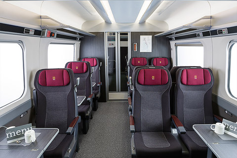 Hitachi interior- Class 800 Series high speed train