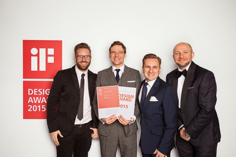 DCA Employees Receiving iF Design Award 2015